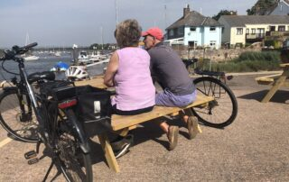 Love Topsham benches at The Quay
